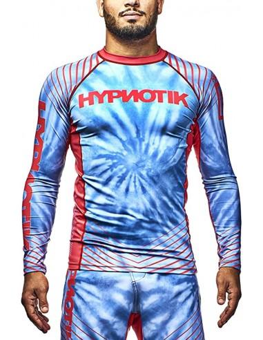 HYPNOTIK Tie Dye L/S Rashguard Sky Blue